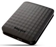 Maxtor M3 STSHX-M500TCBM - Hard drive - 500 GB - external ( portable ) - USB 3.0 - black